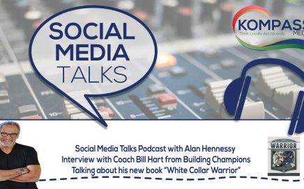 Social Media Talks Podcast with Coach Bill Hart talking about his new book White Collar Warrior - Lessons for Sales Professionals from America's Military Elite